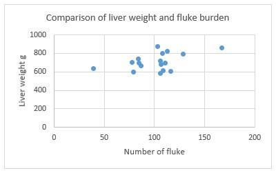 Ridgeway Research Ltd | Comparison of liver weight and fluke burden