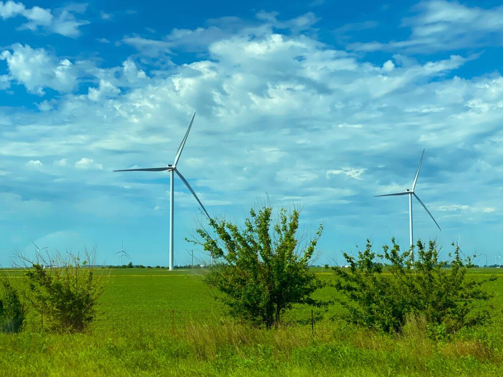 Renewable energy produces far less carbon dioxide than burning fossil fuels like coal.